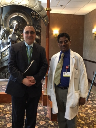 Photo above: Left to right: Marty Bengio, Regency Corporate Administrator, Dr. Thiru, MD.